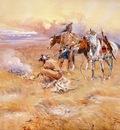 Russell Charles Marion Blackfeet Burning Crow Buffalo Range