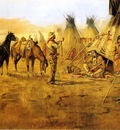Russell Charles Marion Cowboy Bargaining for an Indian Girl