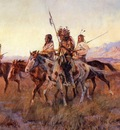 russell charles marion four mounted indians charles marion russell circa