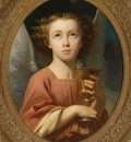 Landelle Charles Zacharie An Angel Holding a Chalice