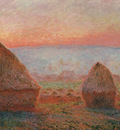 Monet Claude Haystacks at Giverny the evening sun 1888 cat20