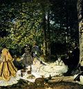 Monet Dejeuner Sur L Herbe A Chailly