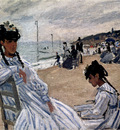 Monet On The Beach At Trouville