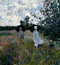 Monet Promenade Near Argenteuil