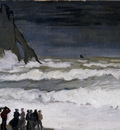 Monet Rough Sea At Etretat