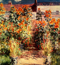 Monet The Steps At Vetheuil