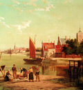 Dommersen William On The River Amstel Amsterdam Holland