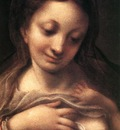 CORREGGIO Virgin And Child With An Angel Detail