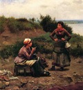 Knight Daniel Ridgway A Discussion Between Two Young Ladies