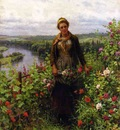 Knight Daniel Ridgway A Maid in Her Garden