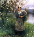 Knight Daniel Ridgway Apple Blossoms in Normandy