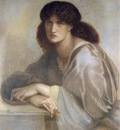 Rossetti Dante Gabriel La Donna Della Finestra 1880 coloured chalks
