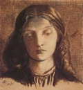 Rossetti Dante Gabriel Portrait of Elizabeth Siddal