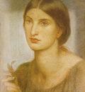 Rossetti Dante Gabriel Study of a Girl