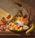 Noter David Emil Joseph De A Still Life With Fruit And Vegetables On A Table