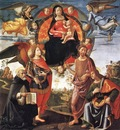 GHIRLANDAIO Domenico Madonna In Glory With Saints