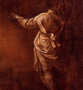Creti Donato Study Of A Young Boy Seen From Behind