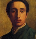 Degas Edgar Degas in a Green Jacket