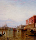 Pollentine Alfred Gondolas On The Grand Canal In Front Of The Doges Palace Venice