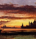 Cooke Edward William Sunset Sky Salute And San Giorgio Maggiore