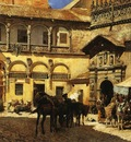 Weeks Edwin Lord Market Square in Front of the Sacristy and Doorway of the Cathedral Granada