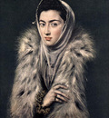 el greco lady with a fur 1577