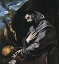 el greco st francis praying 1580