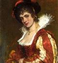 Blaas Eugen von Portrait of a Venetian Lady
