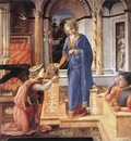 LIPPI Fra Filippo The Annunciation Wih Two Kneeling Donors