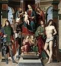 FRANCIA Francesco Madonna And Saints