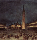 GUARDI Francesco Nighttime Procession in Piazza San Marco