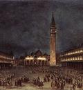 GUARDI Francesco Nighttime Procession in Piazza San Marco