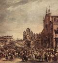 GUARDI Francesco Pope Pius VI Blessing the People on Campo Santi Giovanni e Paolo