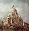 GUARDI Francesco The Doge at the Basilica of La Salute
