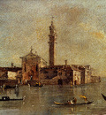 Guardi Francesco View Of The Island Of San Giorgio In Alga Venice