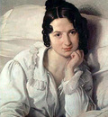 Hayez Francesco Portrait of Carolina Zucchi