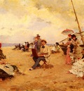 Miralles Francisco The Artist Sketching On A Beach