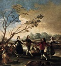 GOYA Francisco de Dance of the Majos at the Banks of Manzanares
