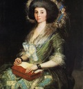 GOYA Francisco de Portrait of the Wife of Juan Agustin Cean Bermudez