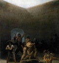 GOYA Francisco de The Yard of a Madhouse