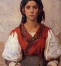 Duveneck Frank Florentine Flower Girl