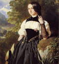 Winterhalter Franz Xavier A Swiss Girl from Interlaken