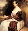 Winterhalter Franz Xavier Portrait Of Madame Ackerman