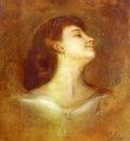 Lenbach Franz Von Portrait Of A Lady In Profile