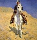 Remington Frederic Self Portrait on a Horse