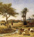 Bridgeman Frederick Arthur An Arab Village