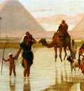 Goodall Frederick Arabs Crossing A Flooded Field By The Pyramids