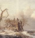 Figures In A Winter Landscape