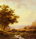 KRuseman Frederik Marianus An Extensive River Landscape With A Castle On A Hill Beyond