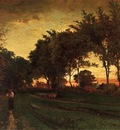 Inness George Evening Landscape